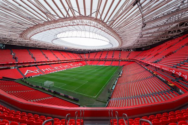 Why is San Mames Stadium called the cathedral of football?