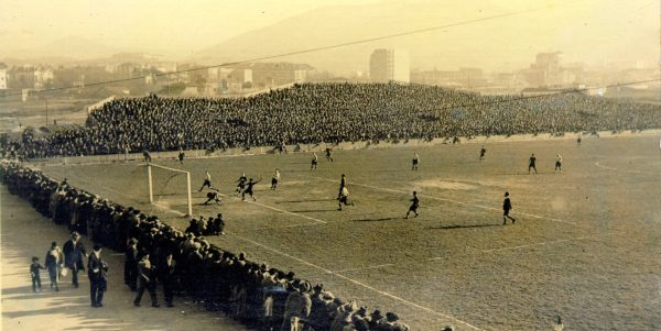 The first football pitches in Bilbao